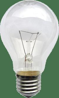 Một chiếc bóng đèn sợi đốt. Các nhà lịch sử Robert Friedel và Paul Israel đã liệt kê 22 nhà phát minh loại đèn này trước Joseph Swan và Thomas Edison (1847 – 1931). Họ kết luận rằng phiên bản đèn sợi đốt (được sản xuất hàng loạt từ năm 1880 ) của Edison hơn các phiên bản khác do kết hợp ba yếu tố: vật liệu đốt hiệu quả hơn, độ chân không trong bóng đèn cao hơn các phiên bản khác (bằng cách sử dụng bơm Sprengel) và điện trở cao hơn khiến việc phân phối điện từ một nguồn trung tâm có thể thực hiện được một cách kinh tế. (Ảnh: wikipedia)