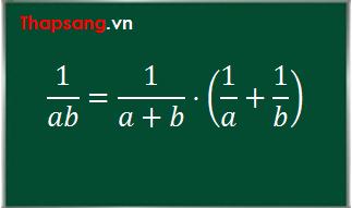 Cách tìm nguyên hàm: Nghịch đảo của một tích bằng nghịch đảo của tổng nhân với tổng các nghịch đảo