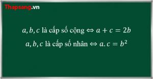 Tính chất của 3 số hạng liên tiếp trong một cấp số