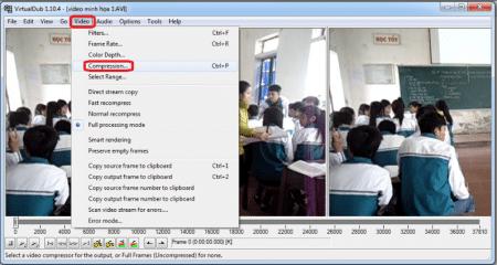 Chon-menu-Video-Compression