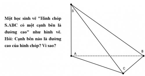 Tại sao nên vẽ đường cao của hình chóp theo phương thẳng đứng?